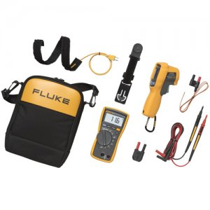 fluke-116-62-max-hvac-technician-s-combo-kit-true-rms-multimeter-and-infrared-thermometer-kit